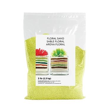 Sandtastik Floral Coloured Sand, 5 lb (2.3 kg) Bag, Lemon Drop, 6/Pack