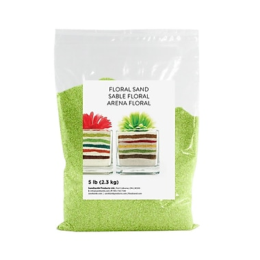 Sandtastik® Floral Coloured Sand, 5 lb (2.3 kg) Bag, Citrus Lime
