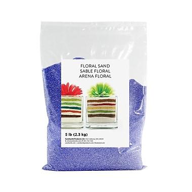 Sandtastik® Floral Coloured Sand, 5 lb (2.3 kg) Bag, Blue Danube, 6/Pack