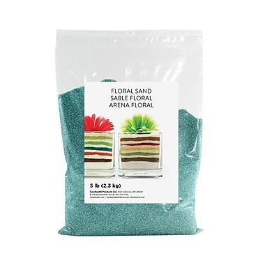 Sandtastik Floral Coloured Sand, 5 lb (2.3 kg) Bag, Teal, 6/Pack