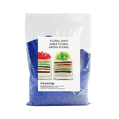 Sandtastik® Floral Coloured Sand, 5 lb (2.3 kg) Bag, Baja Blue