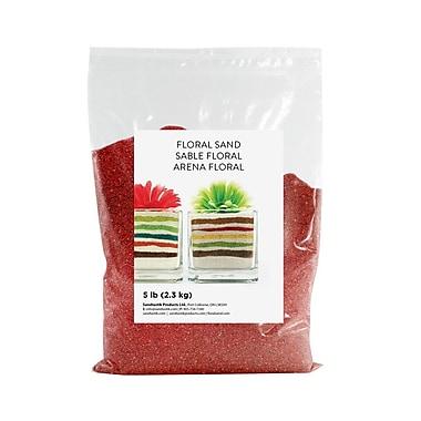 Sandtastik® Floral Coloured Sand, 5 lb (2.3 kg) Bag, Dark Red, 6/Pack