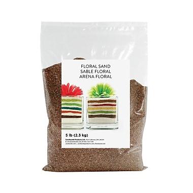 Sandtastik® Floral Coloured Sand, 5 lb (2.3 kg) Bag, Baltic Brown