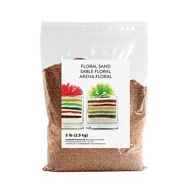 Sandtastik® Floral Coloured Sand, 5 lb (2.3 kg) Bag, Coffee