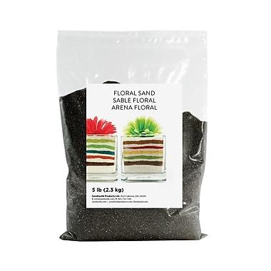 Sandtastik® Floral Coloured Sand, 5 lb (2.3 kg) Bag, Black, 6/Pack
