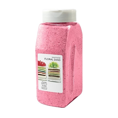 Sandtastik® Floral Coloured Sand, 28 oz (795 g) Bottle, Pink, 8/Pack