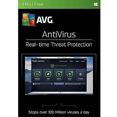 AVG AntiVirus, 3-Devices, 1-Year Subscription
