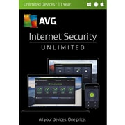 AVG Internet Security, Unlimited Devices, 1-Year Subscription