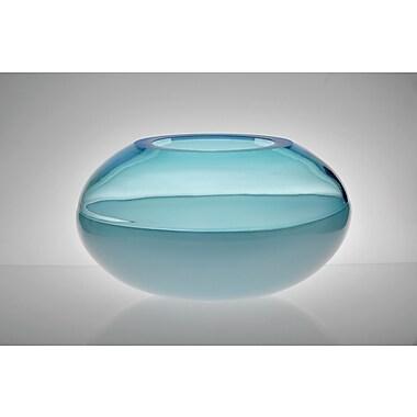 Viz Glass Encalmo Art Glass Serving Bowl; Aqua
