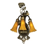 Meyda Tiffany 3 Light Lily Wall Sconce