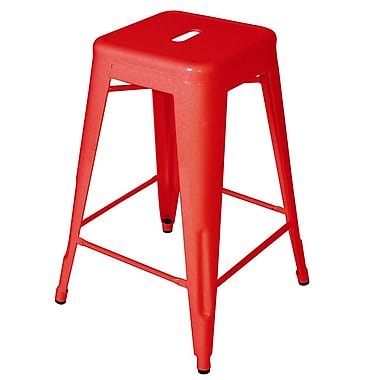 Vandue Corporation Ajax 24'' Bar Stool; Red