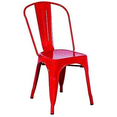Vandue Corporation Cassandra Side Chair (Set of 2); Red