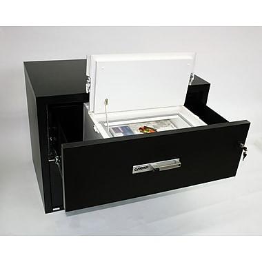 Gardex – Classeur de sûreté pour rangement latéral de médias électroniques de 0,55 pi³, loquet de sécurité (GXMS-100L)