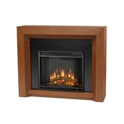 Real Flame Hughes Electric Fireplace; Vintage Black Maple