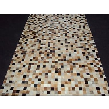 Modern Rugs Patchwork Static IIII Brown Area Rug; Square 4'