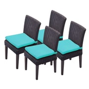 TK Classics Venice Dining Side Chair w/ Cushion (Set of 4) (Set of 4); Navy