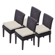 TK Classics Venice Dining Side Chair w/ Cushion (Set of 4) (Set of 4); Beige