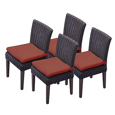 TK Classics Venice Dining Side Chair w/ Cushion (Set of 4) (Set of 4); Terracotta