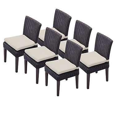 TK Classics Venice Dining Side Chair w/ Cushion (Set of 6) (Set of 6); Beige