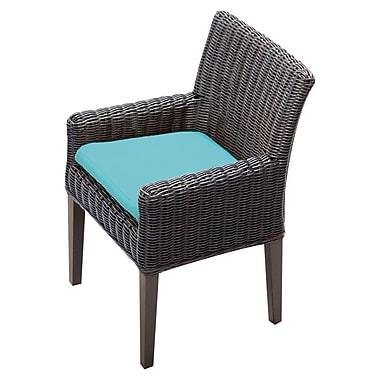 TK Classics Venice Dining Arm Chair w/ Cushion (Set of 2) (Set of 2); Navy