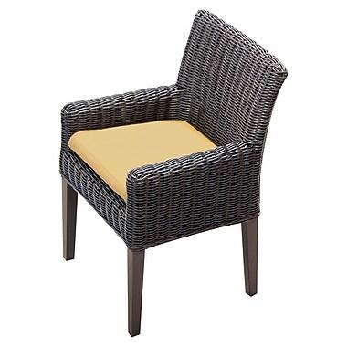 TK Classics Venice Dining Arm Chair w/ Cushion (Set of 2) (Set of 2); Sesame