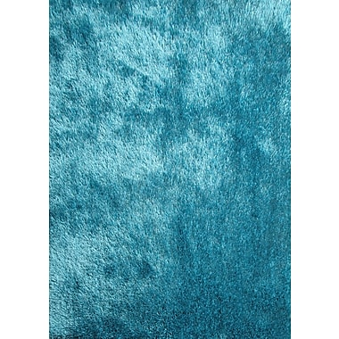 Rug Factory Plus Shaggy Hand Tufted Turquoise Area Rug
