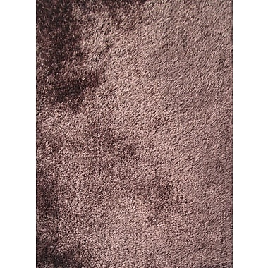 Rug Factory Plus Shaggy Hand Tufted Brown Area Rug