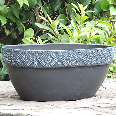 Griffith Creek Designs Athena Fiber Clay Pot Planter; Antique Blue