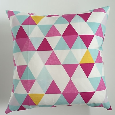 Collier Sun Triangle Throw Pillow; 19.5'' H x 19.5'' W
