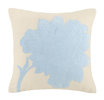 Laurel and Mayfair Vanderbilt Flower Hooked Wool Throw Pillow