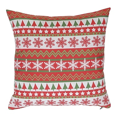 Debage Inc. Little Snowflakes And Christmas Vertical Line Throw Pillow (Set of 2)