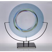 Viz Glass Horizon Decorative Plate