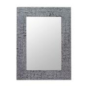 Novica Staccato Metal Stud Mosaic Wall Mirror