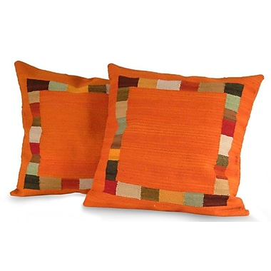 Novica Gate To The Sun Wool Pillow Cover (Set of 2)