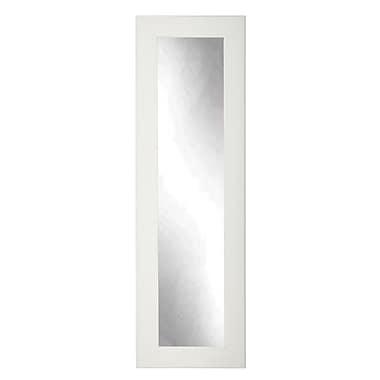 BrandtWorksLLC White Cottage Designer Accent Tall Floor Mirror; 71'' H x 16'' W x 0.75'' D