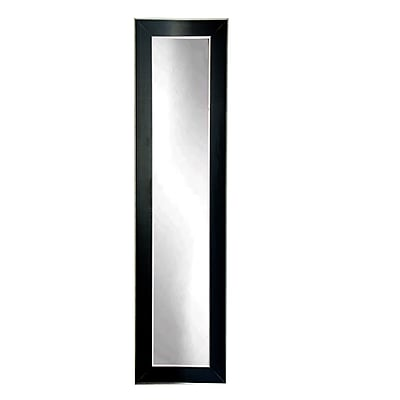 BrandtWorksLLC Black and Silver Designer Accent Tall Floor Mirror; 71'' H x 16'' W x 0.75'' D