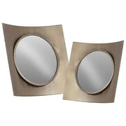 Urban Trends 2 Piece Metal Wall Mirror Set; Silver