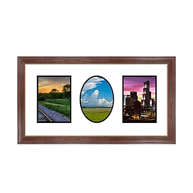 Frames By Mail 3 Opening Collage Picture Frame; Mahogany