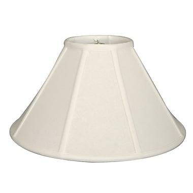 RoyalDesigns Timeless 18'' Linen Empire Lamp Shade; White