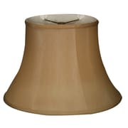 RoyalDesigns Timeless 14'' Silk Bell Lamp Shade; Antique Gold/Off White