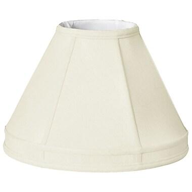 RoyalDesigns Timeless 18'' Silk Empire Lamp Shade; White/Off White