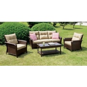 A&J Homes Studio Elina 4 Piece Sofa Seating Group w/ Cushion