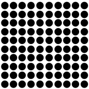 Innovative Stencils Polka Dot Wall Decal (Set of 100); Black