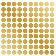 Innovative Stencils Polka Dot Wall Decal (Set of 100); Gold