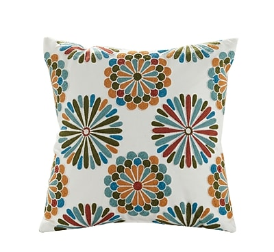 ElightHome Madalyn Embroidered Cotton Throw Pillow