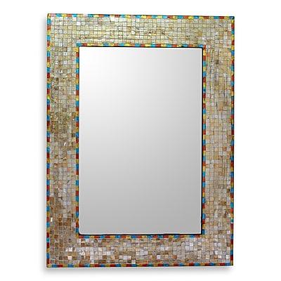 Novica Moradabad Handmade Glass Mosaic Wall Mirror