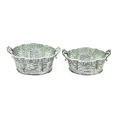 Cole & Grey 2 Piece Aluminum Pot Planter Set