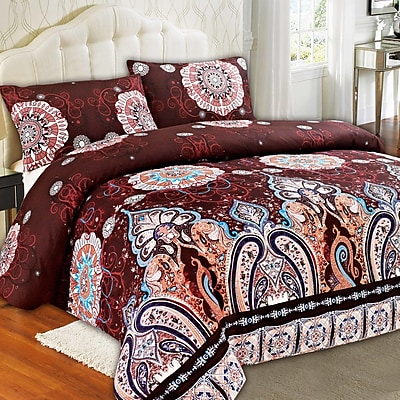 Tache Home Fashion Palace Duvet Cover Set; Queen