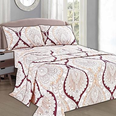 Tache Home Fashion Mandala Flat Sheet Set; Queen