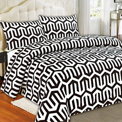 Tache Home Fashion Sophisticated Condo Duvet Cover Set; Queen